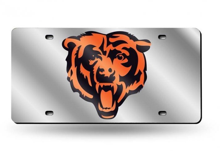 Chicago Bears NFL Laser Cut Alternate License Plate Tag