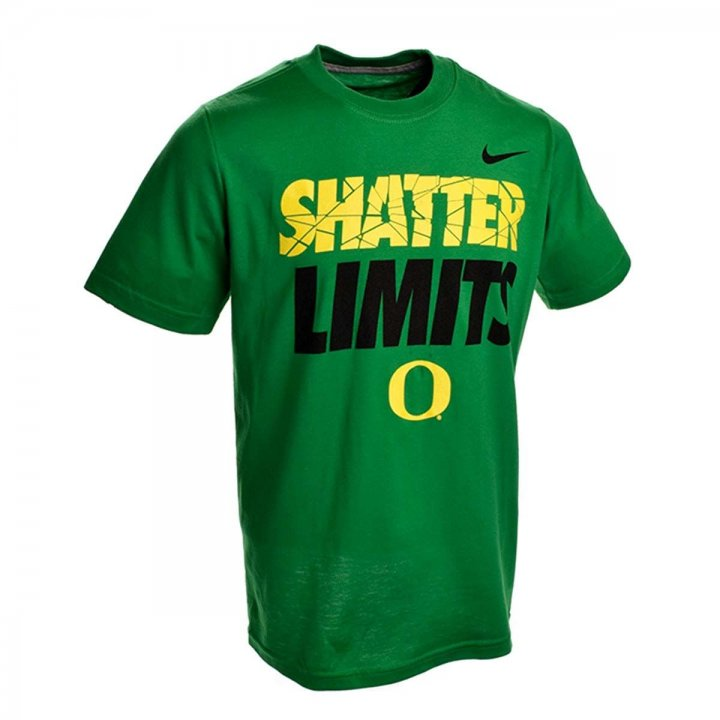 Oregon Ducks Youth Shatter Limits T-Shirt (Green)