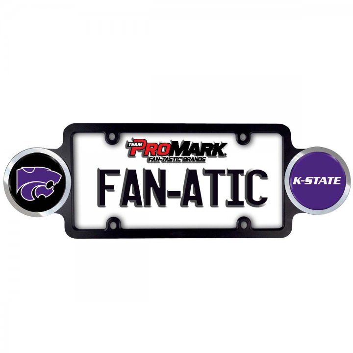 Kansas State Wildcats Badge License Plate Frame