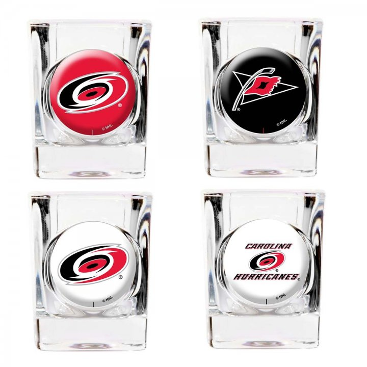 Carolina Hurricanes Carolina Hurricanes 4 Piece Collector's Shot Glass Set