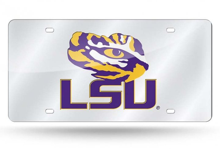 LSU Tigers NCAA Alternate Laser Cut License Plate Tag