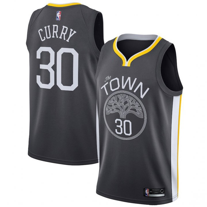 Outerstuff Youth 8-20 Golden State Warriors #30 Stephen Curry Jersey for Boys Black