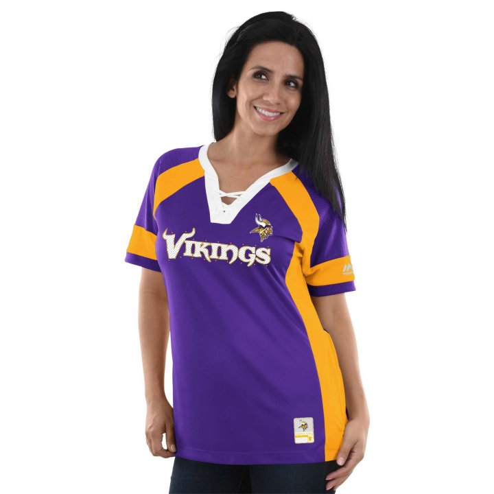 Minnesota Vikings NFL Womens Draft Me Top (Purple)
