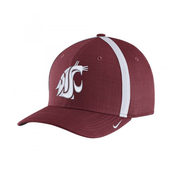 Washington State Cougars NCAA Coaches Cap (Maroon)