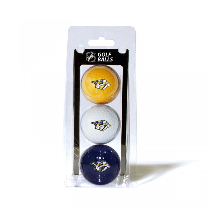 Nashville Predators 3 Pack Golf Balls