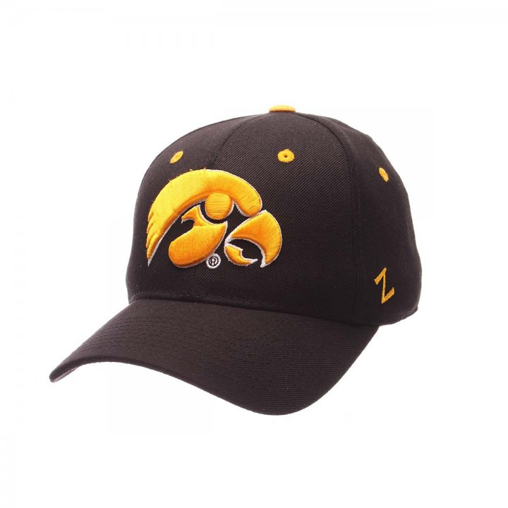 Iowa Hawkeyes Zephyr NCAA Dhs Fitted Hat (Black)