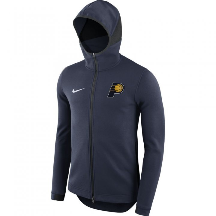 Indiana Pacers NBA Mens Nike Showtime On Court Full Zip Hoodie (Navy)