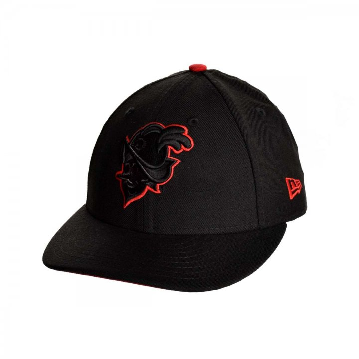 Albuquerque Dukes MiLB Red Outline Duke 5950 (Black)