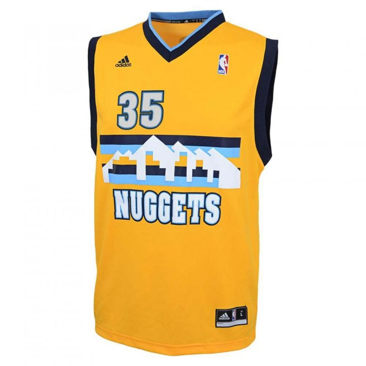 Denver Nuggets NBA Kenneth Faried #35 Youth Alternate Replica Jersey (Gold)