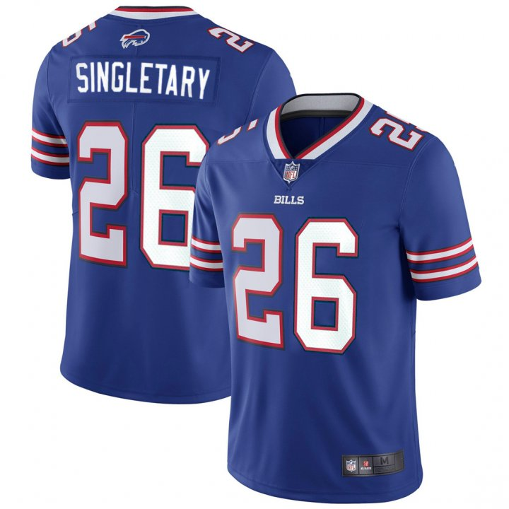 VF Youth Kids 26 Devin Singletary Buffalo Bills Jersey Royal