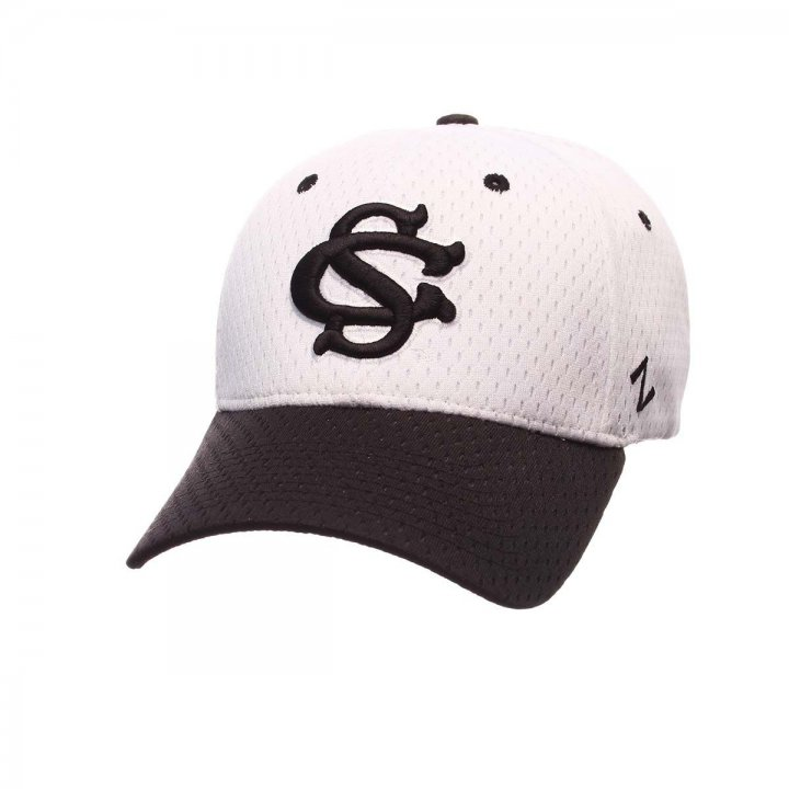 South Carolina Gamecocks Zephyr NCAA Zh Flex Fit Hat (White)