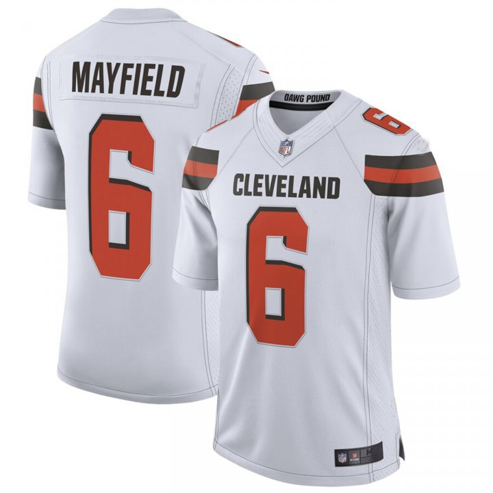 Franklin Sports Men's Baker Mayfield #6 Cleveland Browns Limited Jersey - White