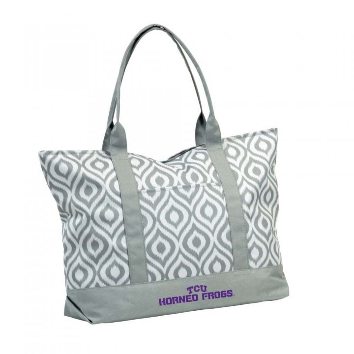 TCU Horned Frogs Ikat Tote