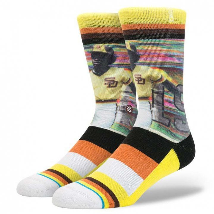 Stance, Inc Tony Gwynn San Diego Padres Legend Socks (Yellow)