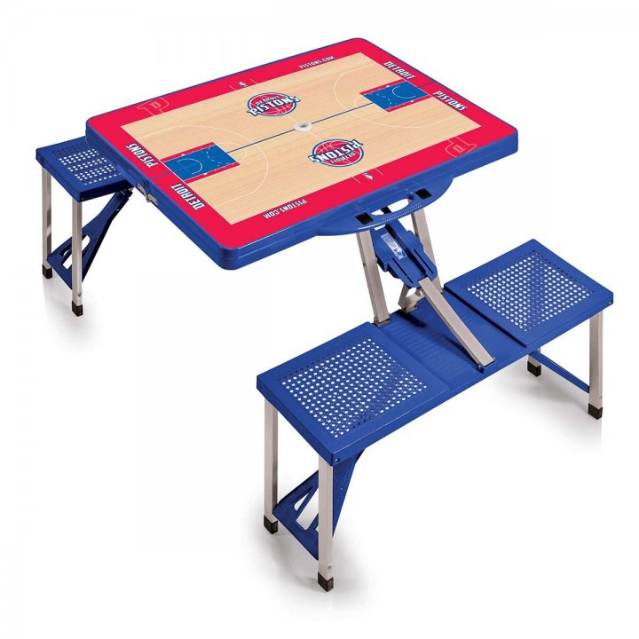 Detroit Pistons Portable Picnic Table with Sports Field Design