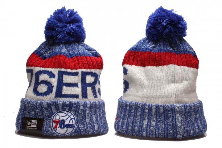 New Era NBA Sport Knit Beanie Hat Winter Cap(Philadelphia 76ers)