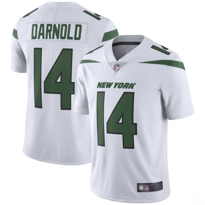 Franklin Sports Youth Kids 14 Sam Darnold New York Jets Jersey White