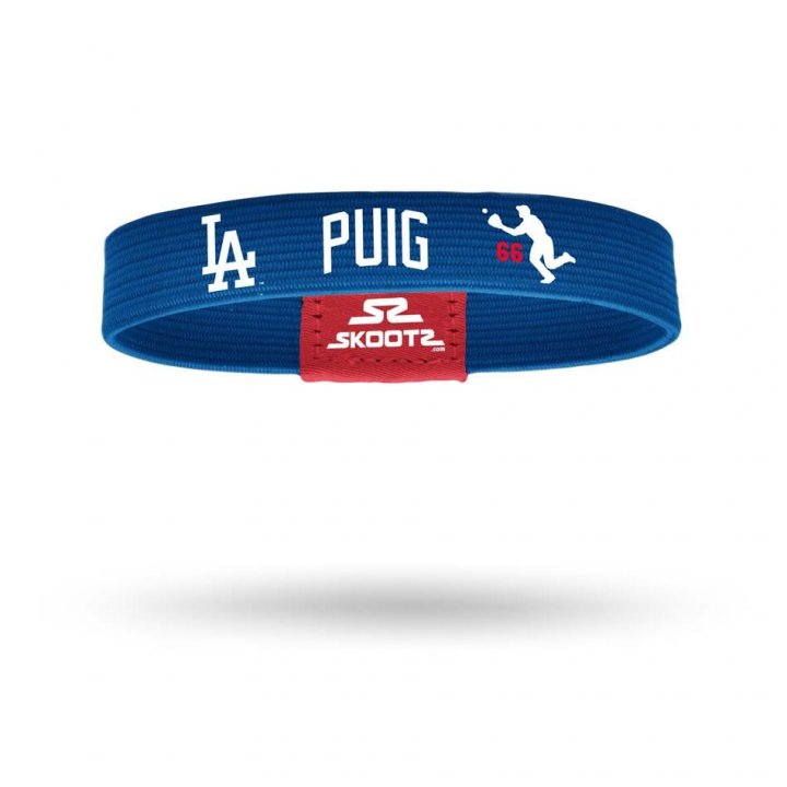 Los Angeles Dodgers MLB Yasiel Puig Shadow Bandz (Royal)