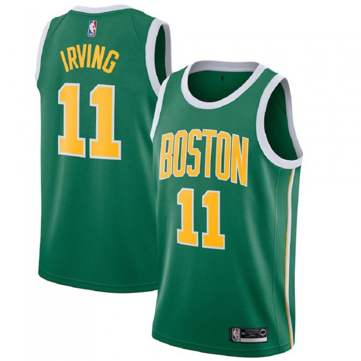 Majestic Athletic Kyrie Irving #11 Boston Celtics 2018-19 Swingman Men's Jersey Green