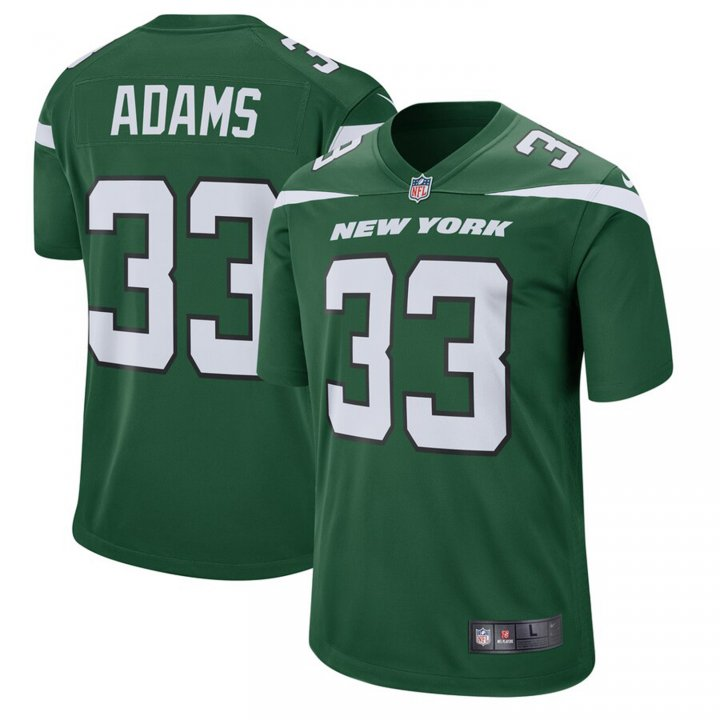 Franklin Sports Men's Jamal Adams #33 New York Jets Game Jersey - Gotham Green