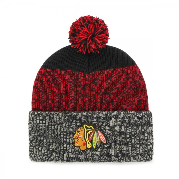 Chicago Blackhawks NHL Static Cuff Knit (Black)