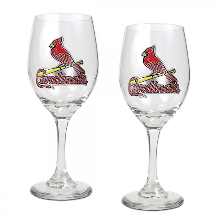 St. Louis Cardinals MLB 2 Piece Wine Glass Set (Clear)