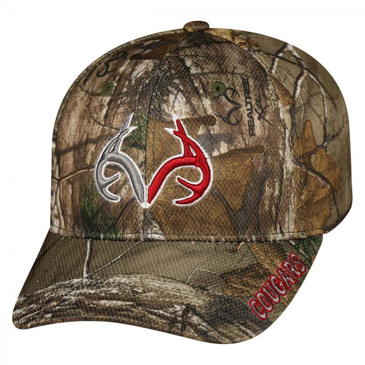 Washington State Cougars Extra Stretch Hat (Camo)