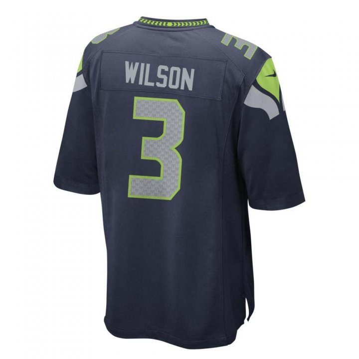 Russell Wilson Seattle Seahawks Nike Youth Game Jersey (Navy)