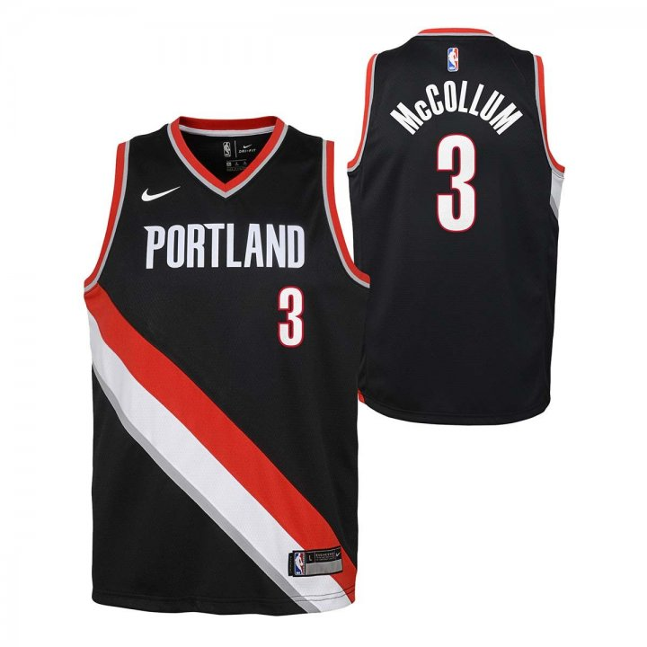 Portland Trail Blazers NBA Cj Mccollum Youth Icon Swingman Jersey (Black)