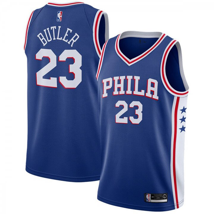 Franklin Sports Jimmy Butler Philadelphia 76ers Swingman Player #23 Jersey Icon Edition Royal