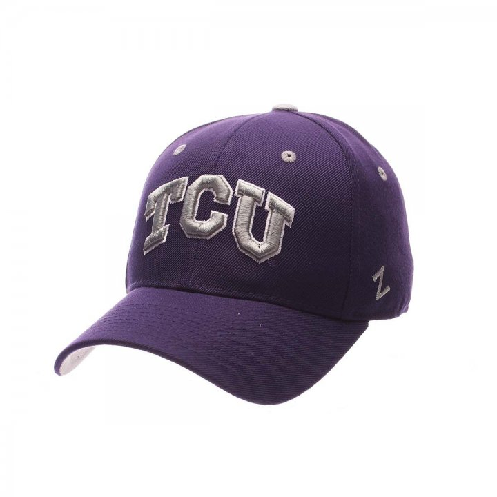 TCU Horned Frogs Zephyr NCAA Dh Fitted Hat (Purple)
