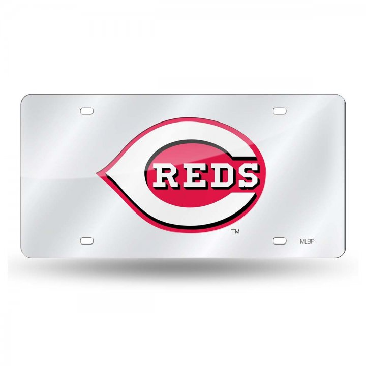 Cincinnati Reds MLB Laser Cut Alternate License Plate Tag