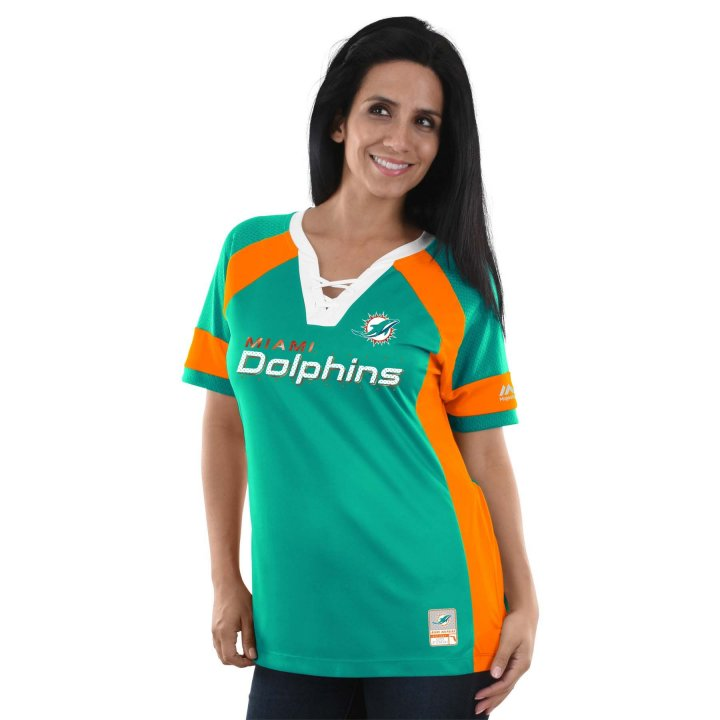 Miami Dolphins NFL Womens Draft Me Top (Teal)