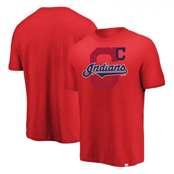 Cleveland Indians MLB Intense Action T-Shirt (Red)