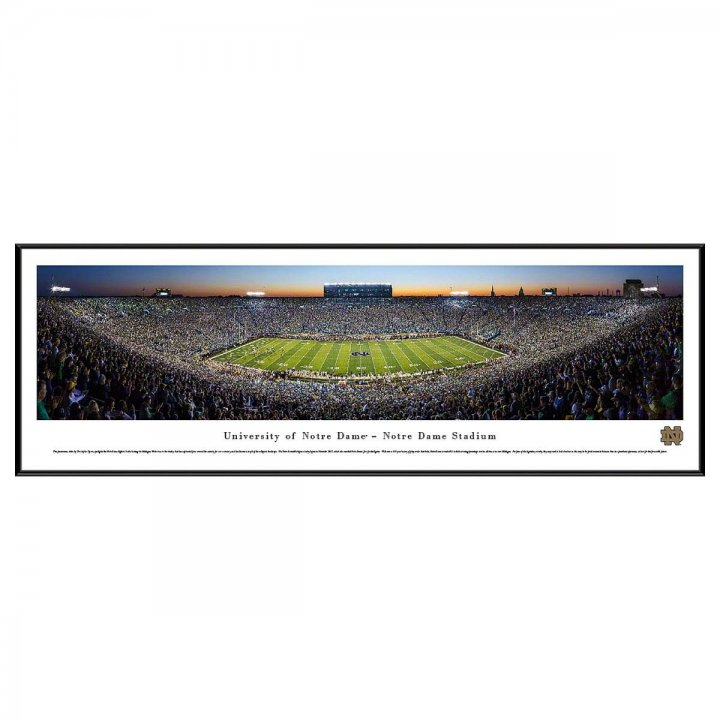 Notre Dame Fighting Irish 50 Yard Line Twilight Standard Frame