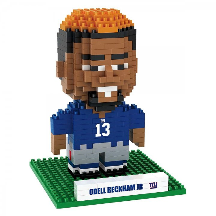 New York Giants NFL Odell Beckham Jr 3D Player Name And Number