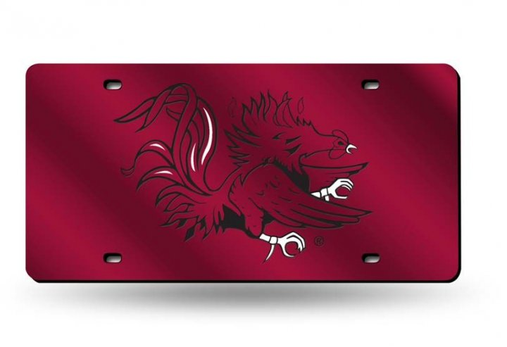 South Carolina Gamecocks NCAA Laser Cut License Plate Tag