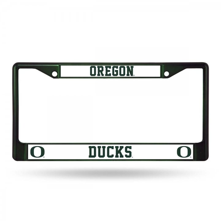 Oregon Ducks Colored Chrome Frame (Green)