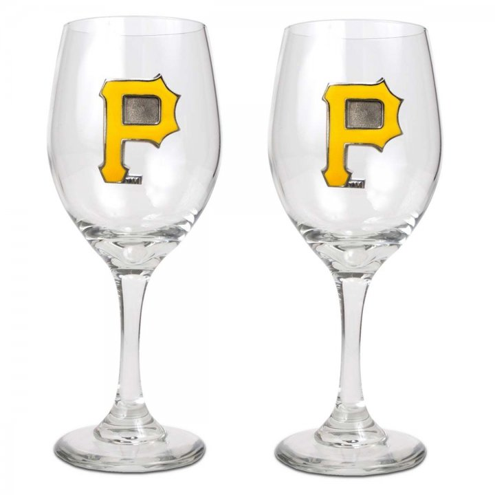 Pittsburgh Pirates Pittsburgh Pirates 2 Piece Wine Glass Set