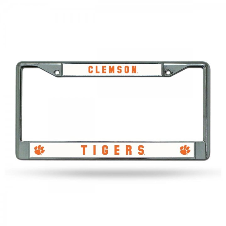 Clemson Tigers NCAA Chrome License Plate Frame