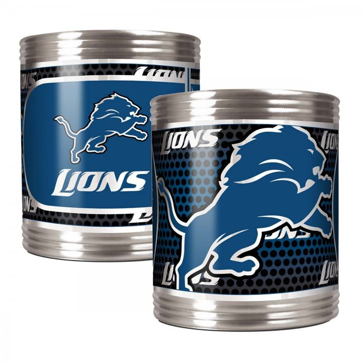 Detroit Lions Detroit Lions 2 Piece Stainless Steel Can Holder Set with Metallic Graphics