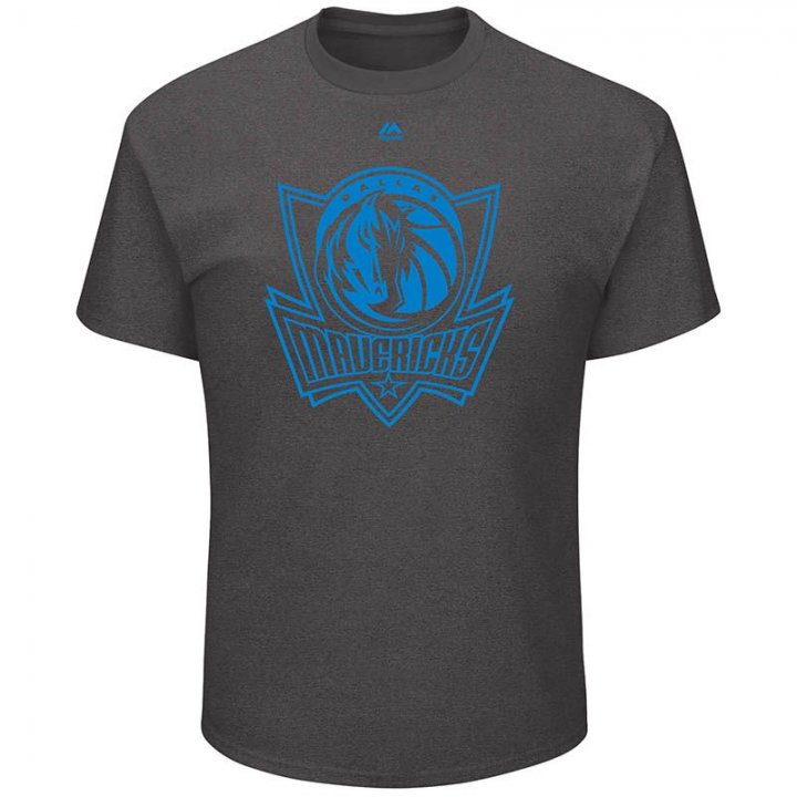 Dallas Mavericks NBA Relentless Preparation Tee (Charcoal)