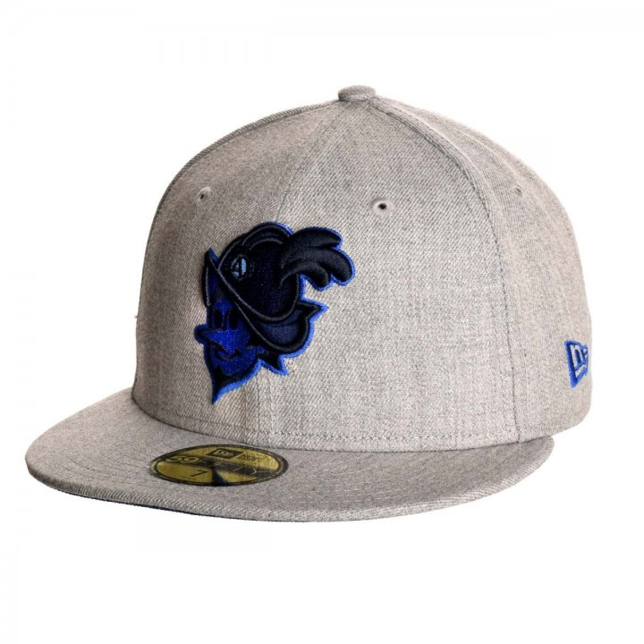 Albuquerque Dukes MiLB Heather Gray Blue Duke 5950 (Gray)