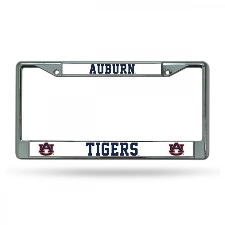 Auburn Tigers NCAA Chrome License Plate Frame