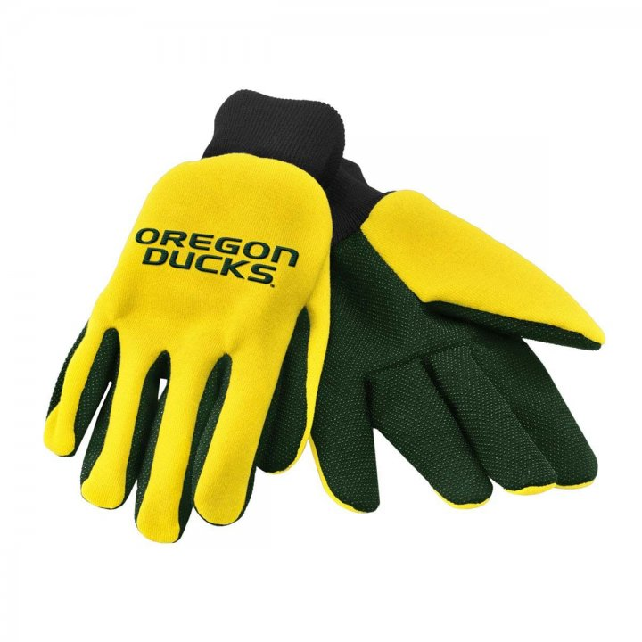 Oregon Ducks Two Color Work Gloves