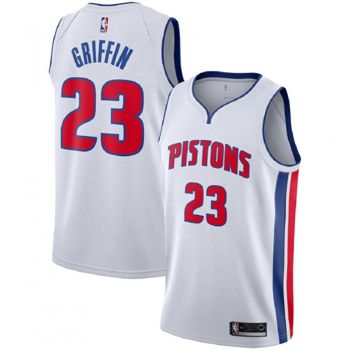 Majestic Athletic Men's #23 Blake Griffin Detroit Pistons White Swingman Jersey
