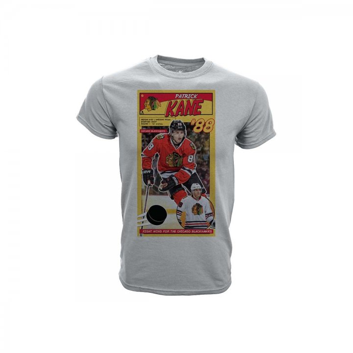 Patrick Kane Chicago Blackhawks Youth First Issue Player T-Shirt (Gray)