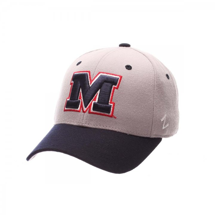 Mississippi Rebels Zephyr NCAA Dh Fitted Hat (Gray)