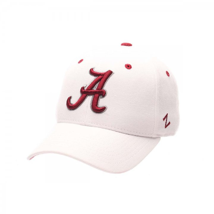 Alabama Crimson Tide Zephyr NCAA Dh Fitted Hat (White)