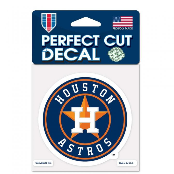 Houston Astros 4x4 Color Die Cut Decal